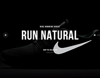 Nike Running Shoes - Website Concept