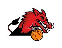 Wild Boar Basketball Mascot
