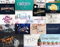 The Classy Fonts Bundle: 51 High-quality Fonts