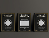 Layout // Certificates