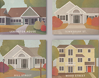 Four Houses Illustration Project