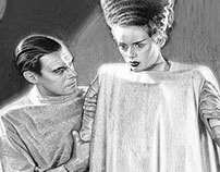 "Rough Comp: ""The Bride of Frankenstein"" Tribute Poster"