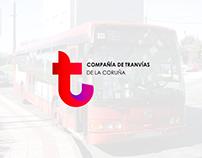 Rediseño logo Compañía de Tranvías de La Coruña