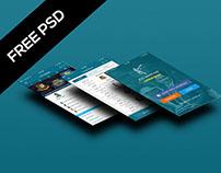 FREE PSD : Cricket Live Update iOS APP UI