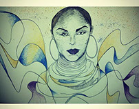 Sade Illustration Portrait