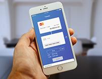 Transfer between cards mobile app UI