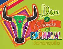 Palmato en el carnaval de Barranquilla