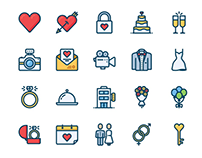 30+ Best Wedding Icons for Your Design Projects