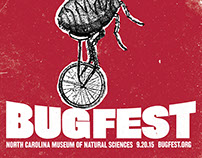 Bugfest festival poster and postcards