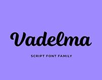 Vadelma script font