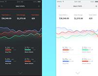 Mobile statistics app concept