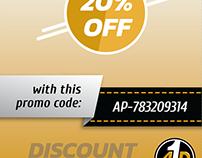 Discount Flyer Design.