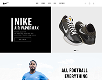Nike Web Design in sketch app