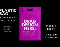 Free Download Plastic Bag Mockups - Photoshop Template