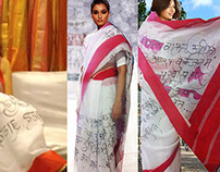 Calligraphy Saree..