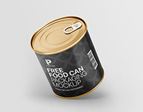 Free Food Can Packaging Mockup
