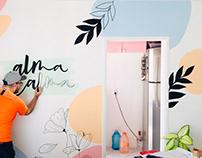 Transformando ambientes (lettering em parede)