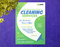 Free Cleaning Services Flyer Design Template Ai