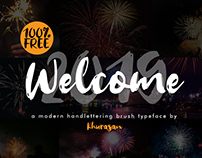 Full Free 100% - Welcome 2019 Font - Commercial Use