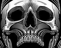 Lynyrd Skynyrd Biker shirt illustration