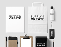 Supply & Create: Art Shop Re-Branding Project