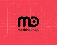 MD: Machina Druku - brand logo design concept