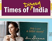 Newsletter designed for DISNEY INDIA.