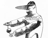 Eyelid retraction drawings