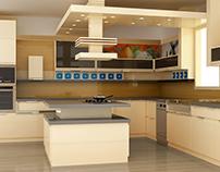 Magasfényű bútorlapból készült modern konyhabútor