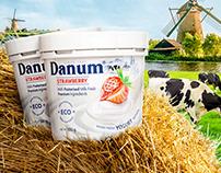 Natural yogurt, packaging design