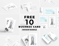 free 10 business Card mockup bundle