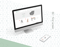 Online furniture store UX/UI design