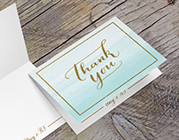 RJ & Uny Thank You Card