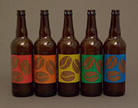 Cycle Brewing 3rd Anniversary Beer Labels