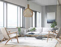 REDI Apartments - Living Room