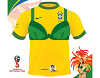 Brazil Jersey for Women Football Team