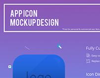 App icon mockup free PSD
