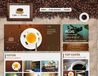 Site + Blog | Café com Prosa (cafeteria)