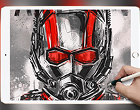 IPAD DRAWING: ANT-MAN