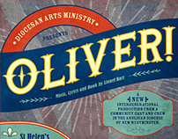 Oliver! Musical print collateral