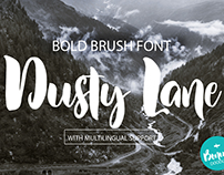 FREE Dusty Lane Handwritten Brush Font