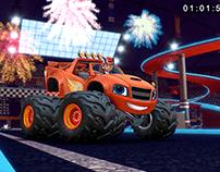 Monsterdome interior race track