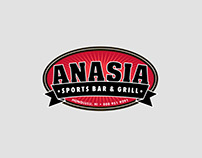 Anasia Sports Bar & Grill Logo Re-design