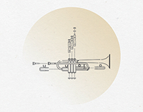 Music instruments Line Illlustration