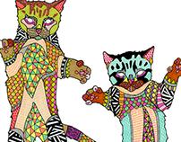 Neon Bodega Cats