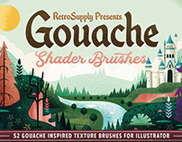 Retro Supply Co Gouache Shader Brushes For Illustrator