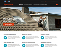 Roofing Joomla Template