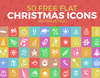 50 Free Flat Christmas Icons Vector Ai File