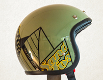 Sand FOX helmet custom paint