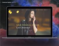 Personal Stylist Web Site Design Дизайн сайта Стилиста